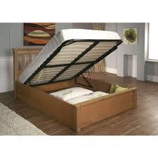 double new alder solid oak ottoman storage bed