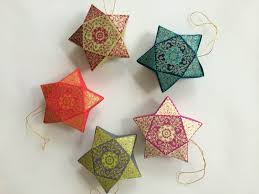 Decorating Boxes With Paper Hanging Star Box Handmade Holiday Ornaments by PenandFavor on Zibbet 96