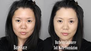 burberry cashmere soft matte foundation review demo kirei makeup you