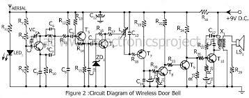 wireless controlled door bell   electronics projectcircuit diagram of wireless door bell
