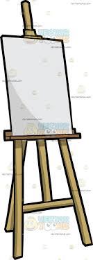 a blank canvas on an easel