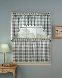 For Kitchen Curtains Interior Gray Curtains For Kitchen Be Equipped With Gray Valance