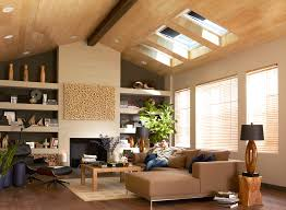 wonderful design style of skylight shades with sloped ceilings and wooden ceiling also sectional sofa plus