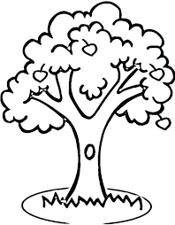 Printable Apple Tree Coloring Pages Laptopezine Clip Art Library