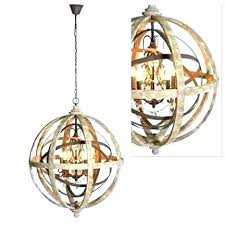 large wood chandelier round wood chandelier wood and metal orb chandelier large round wooden orb chandelier