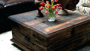 square trunk coffee table post large storage chest wood box full size