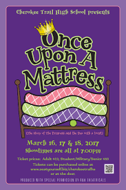 once upon a mattress poster. Musical Performance \u2013 Once Upon A Mattress March 16, 17 \u0026 18 Poster O