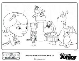 Innovation Doc Mcstuffins Coloring Pages Free Printable Online