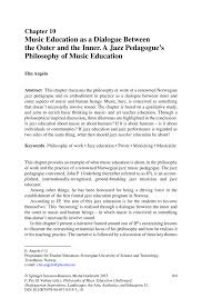 music education as a dialogue between the outer and the inner a philosophy of music education challenged heideggerian inspirations philosophy of music education challenged heideggerian inspirations