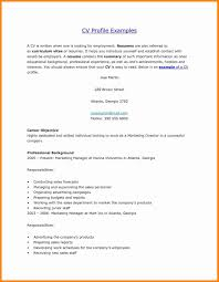 Personal Profile In Resume Example Examples Of Resumes Sample