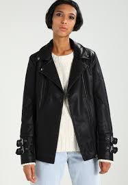 new look justin longline tab sleeve biker faux leather jacket black zalando co uk