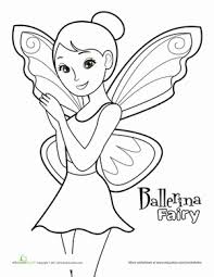 Small Picture Fairy Ballerina Worksheet Educationcom