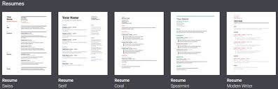 Modern Resume Template Google Docs 6 Google Docs Resume Templates For All Styles And Preferences