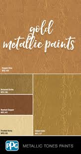 Metallic Tones Interior In 2019 Gold Painted Walls