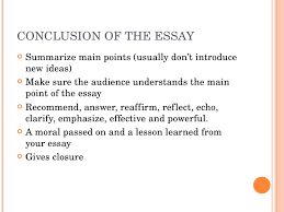 how to write a good essay   7 conclusion of the essay