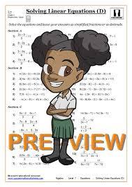 level 7 quick solving linear equations d