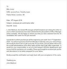 Affirmation Letter For Confirmation Candidate