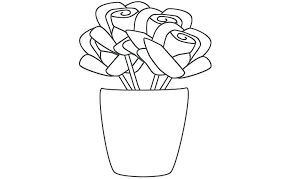 page flowers vase with flowers coloring page flower vase coloring pages vases flower big coloring vase page empty vase with flowers coloring page g page