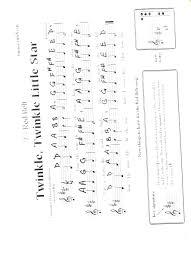 Twinkle Twinkle Little Star Recorder Finger Chart Ms Iacobelli Recorder Karate
