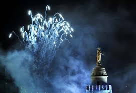 the 39th annual lighting of the washington monument in mount vernon square on dec 2