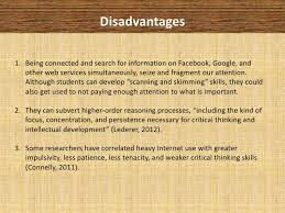 Advantages and Disadvantages of Internet