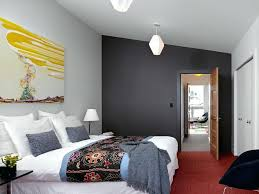 red and grey bedroom colors bright bedding in bedroom contemporary with gray walls next to warm