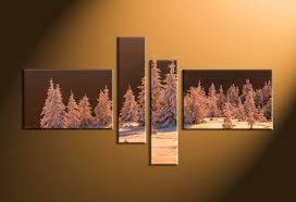 home decor 4 piece canvas art prints landscape pictures nature multi panel art on sepia canvas wall art with 4 piece brown canvas snow sepia landscape multi panel art