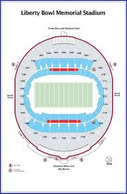 Liberty Football Seating Chart The Liberty Bowl Seating Chart Click To Enlarge Directions