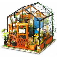 miniature doll furniture. ROBOTIME DIY Miniature Dollhouse Furniture Kit Greenhouse; Cheap Greenhouse Doll