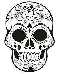 Small Picture Coloring Page Printable Day Of The Dead Candy Pages For Kids Candy