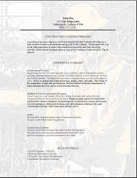 worker resume format construction  seangarrette co  construction worker resume sample    worker resume format construction