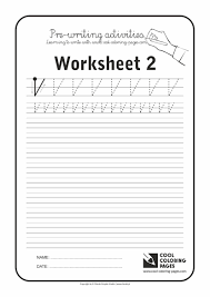 Cool Coloring Pages Pre Writing Activities Worksheet Fun For