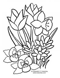 Spring Flowers Coloring Pages Printable Easy To Draw Spring Spring