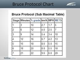 Modified Bruce Treadmill Protocol Chart Module 3 Cardiorespiratory Fitness Ppt Video Online Download
