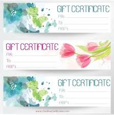 gift certificate for business free printable and editable gift certificate templates makeup