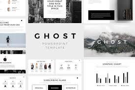 Best Design Presentation Slides Ghost Minimal Powerpoint Template Keynote And Google Slides