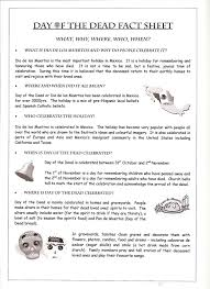 day of the dead essay day of the dead reading passage vocabulary printable grades