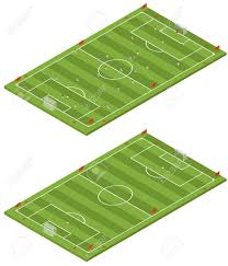 soccer field templates isometric flat 3d soccer field template royalty free cliparts