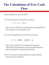 the calculation of free cash flow