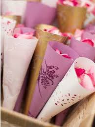 Paper Cones For Flower Petals Guests To Throw Petals After The Ceremony Wedding Wedding
