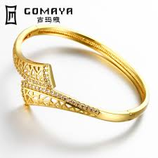 New Latest Gold Bangles Design Us 5 37 30 Off Christmas New Designed Bracelets Bangle Gold Color Trend Round Style Bangle In Jewelry Wholesale Z012 A In Bangles From Jewelry