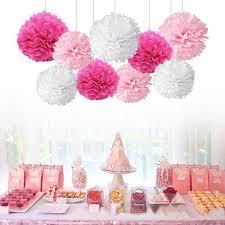 Diy Flower Balls Tissue Paper Tissue Paper Pom Poms Flower Balls For Wedding Party Car Decoration Diy Craft Paper Flower Balls