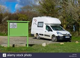 Small Car Camper Small Motorhome Romahome R25 Parked In Car Park Cornwall