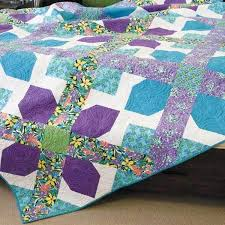 80 best Queen Size Quilts images on Pinterest | Ideas, Magazines ... & The Cross It Out queen size quilt pattern is fast to piece. Adamdwight.com