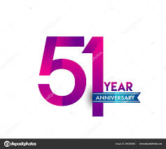 Blue Ribbon Template Years Anniversary Celebration Purple Logo Blue Ribbon Vector Design