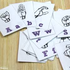 Print on 8.5 x 11 card stock for best results. Free Printable Flashcards Sign Language Alphabet Flashcards