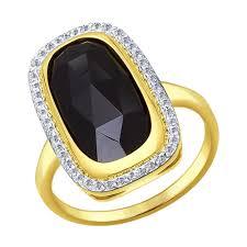 Купить <b>кольцо SOKOLOV из желтого</b> золота с агатом и ...