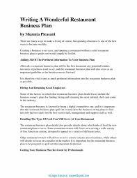 Restaurant Business Plan Template Trending Good Business Plan Sample Pdf Restaurant Business Plan 4