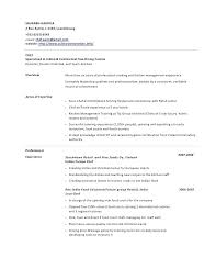 Sample Of Cook Resume – Foodcity.me