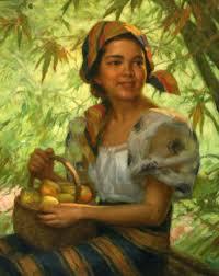 pahina ni primo esteria a basket of mangoes by fernando amorsolo a basket of mangoes oil on canvas 1949 by fernando amorsolo